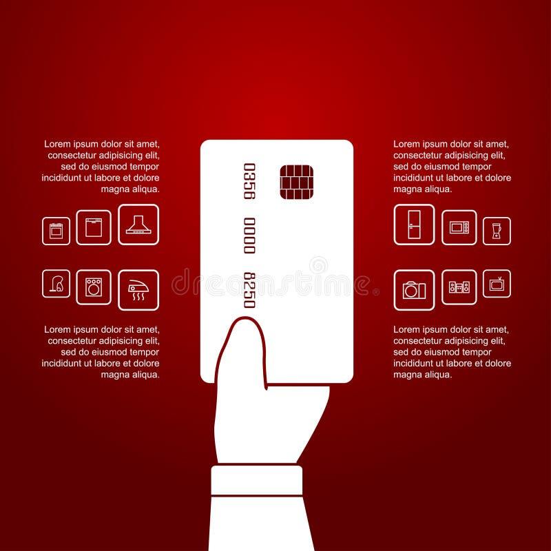 购物infographic 皇族释放例证