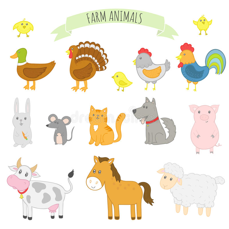 牲口的传染媒介例证 免版税库存图片