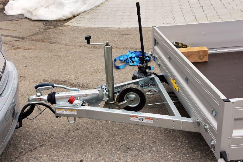 牵引杆和拖车 库存照片