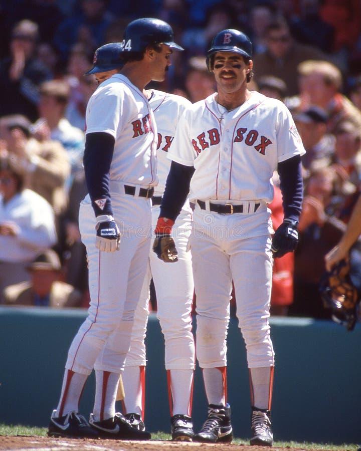 代特伊万斯和比尔Buckner波士顿红袜 库存图片