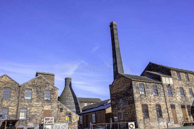 特伦特,Staffordshir Stoke历史的工业建筑学  免版税图库摄影