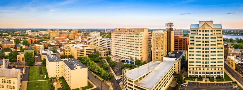 特伦顿新泽西地平线空中全景  库存图片