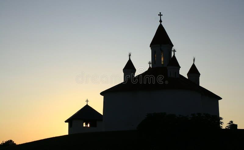 特兰西瓦尼亚中世纪教堂 免版税图库摄影