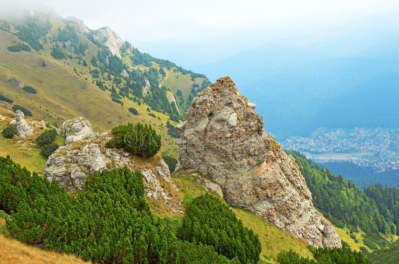特兰西瓦尼亚, Sinaia,罗马尼亚山  库存图片