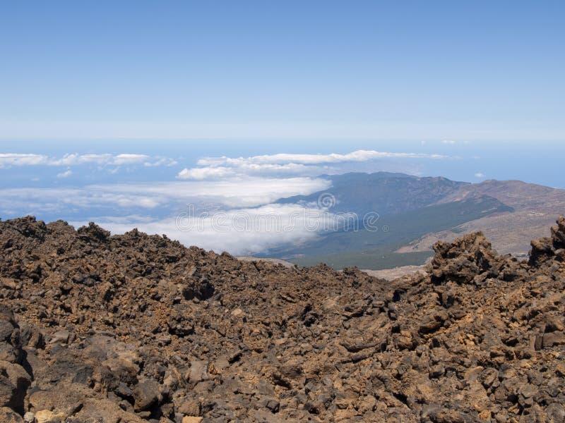 特内里费岛看法从泰德峰火山的 库存图片
