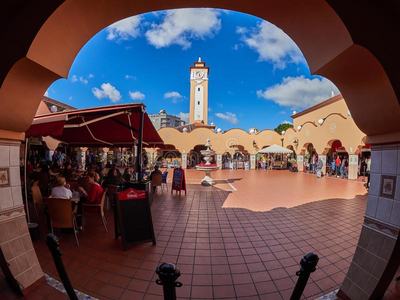 特内里费岛,西班牙- 2019年2月3日:Nuestra de非洲夫人市场,特内里费岛 图库摄影