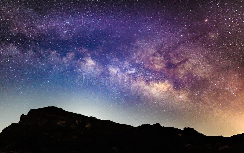 特内里费岛在晚上 库存图片