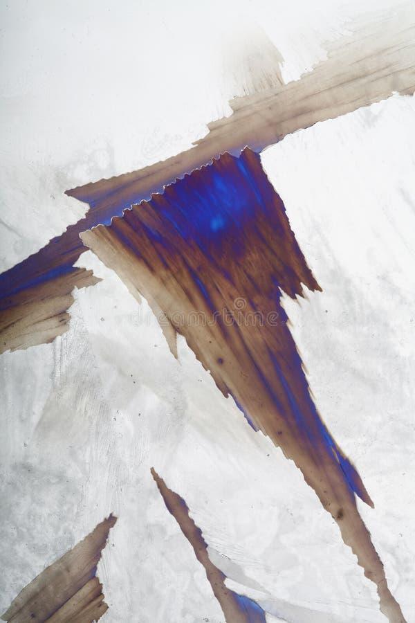 特写镜头冰成了锯齿状 免版税库存照片