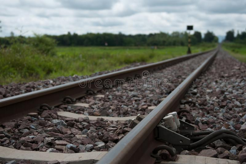 特写镜头北泰国铁路 库存照片
