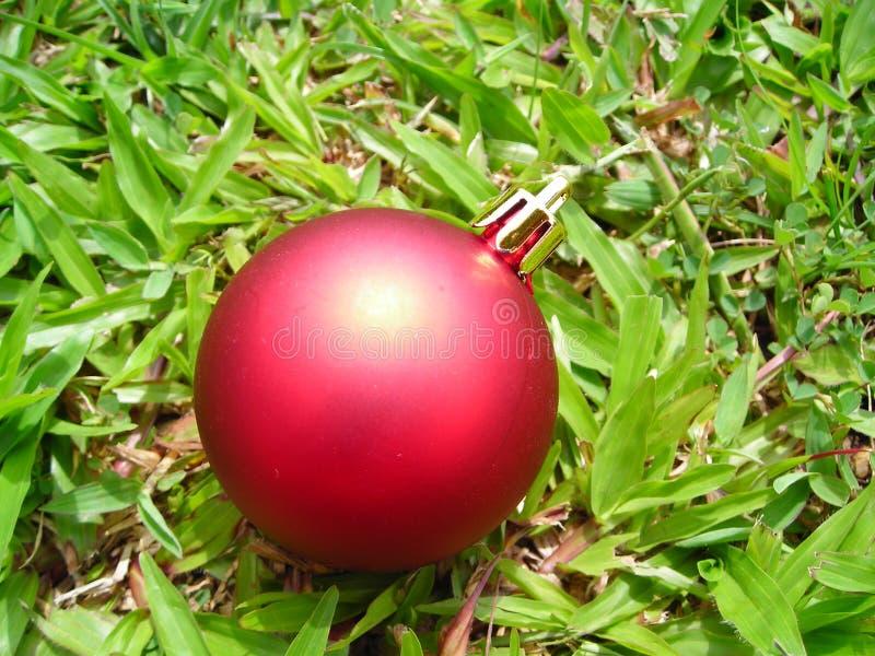 特写镜头圣诞节球装饰 免版税图库摄影