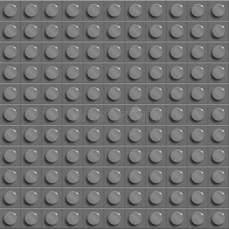 特写镜头塑料光泽建筑lego块完善的传染媒介lego背景  灰色 库存例证
