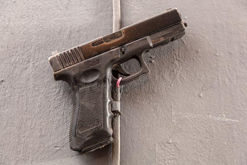 特写镜头塑料玩具枪 库存照片