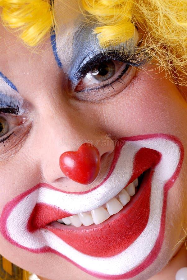 特写镜头小丑女性 免版税库存图片