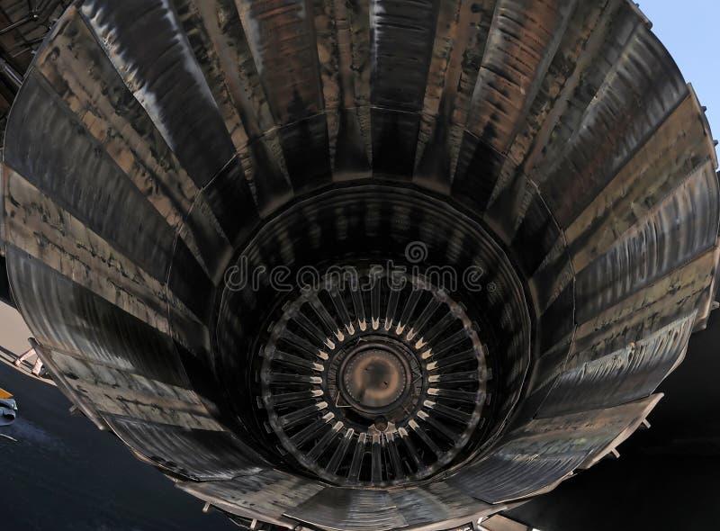 特写镜头引擎喷气机 库存图片