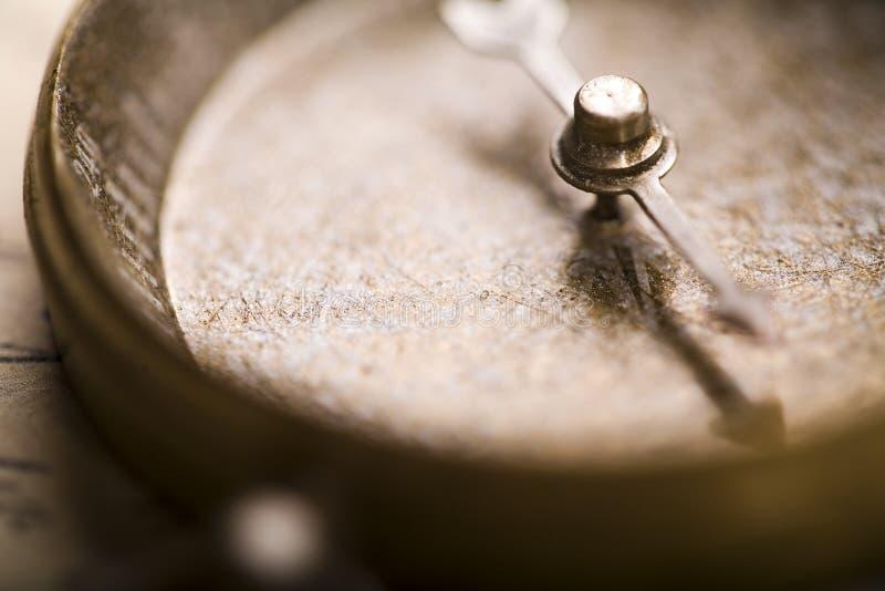 特写镜头指南针详细资料 图库摄影