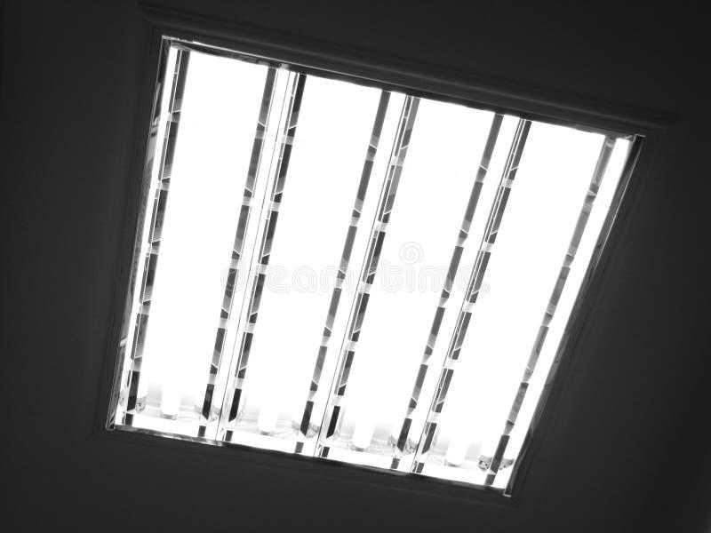特写镜头日光灯 库存照片