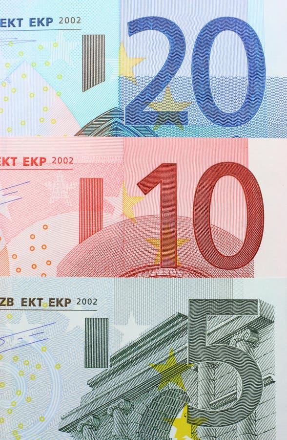 特写镜头欧元附注 免版税库存照片