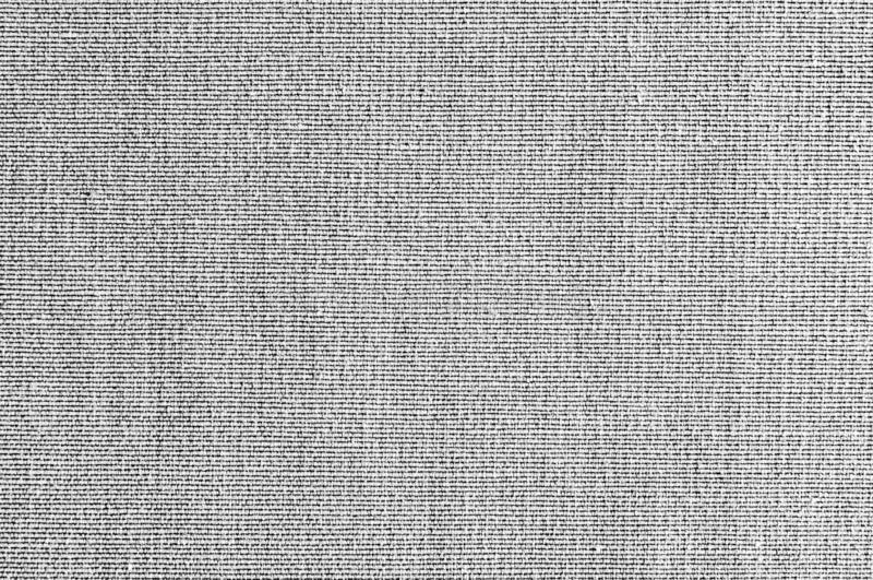 特写镜头灰色,黑白颜色织品纹理 带状线白色,灰色织品样式设计或室内装饰品抽象背景 免版税库存照片