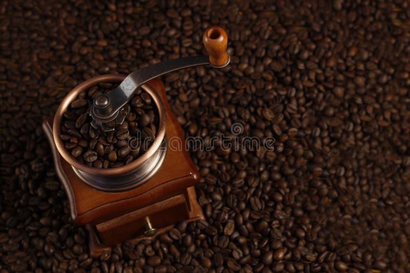 特写镜头磨咖啡器 库存图片