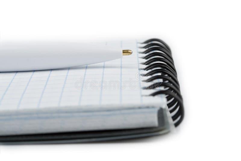 特写镜头笔记本笔 免版税图库摄影