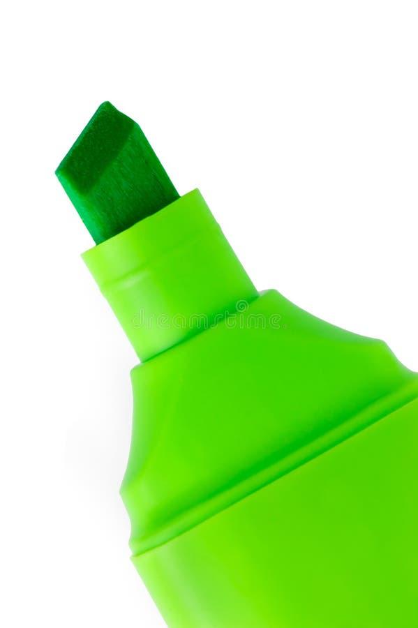 特写镜头绿色查出的宏观标记 图库摄影