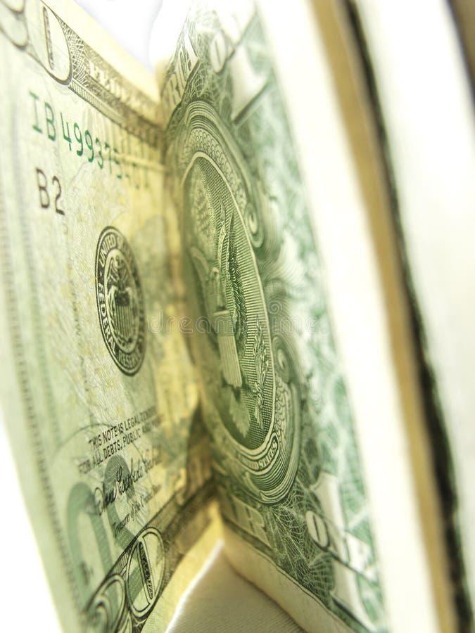 特写镜头美元货币纸张 库存图片