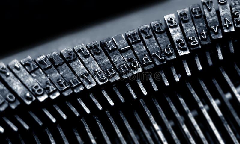 特写镜头老打字机 图库摄影