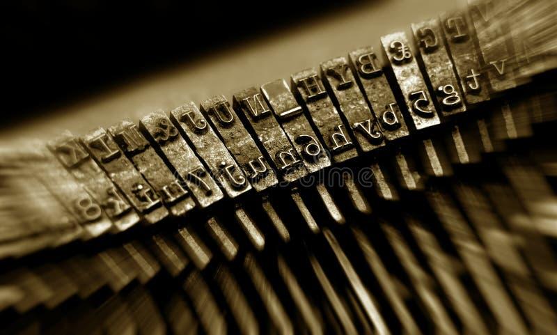 特写镜头老打字机 库存照片