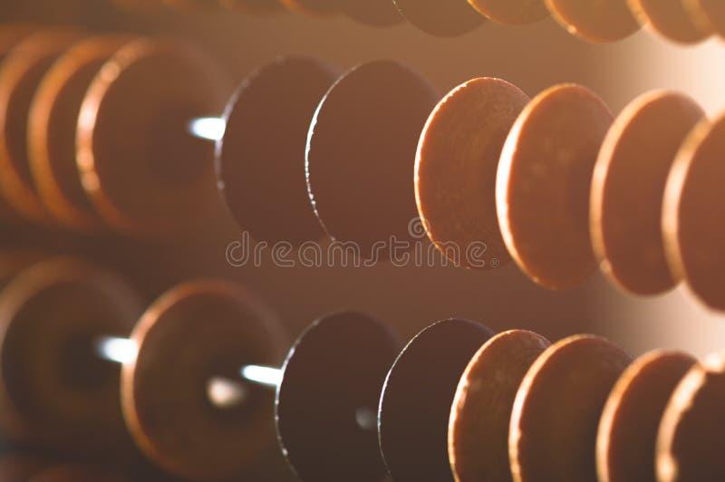 特写镜头葡萄酒算盘 免版税库存照片