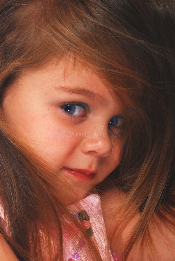 特写镜头逗人喜爱的女孩一点 库存图片