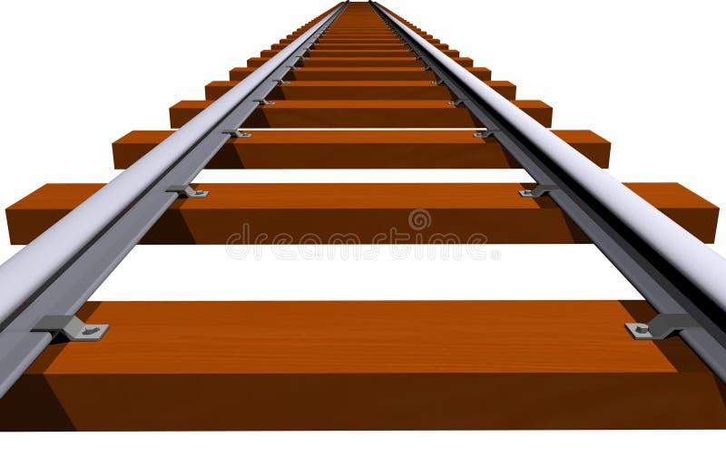 特写镜头铁路轨道 皇族释放例证