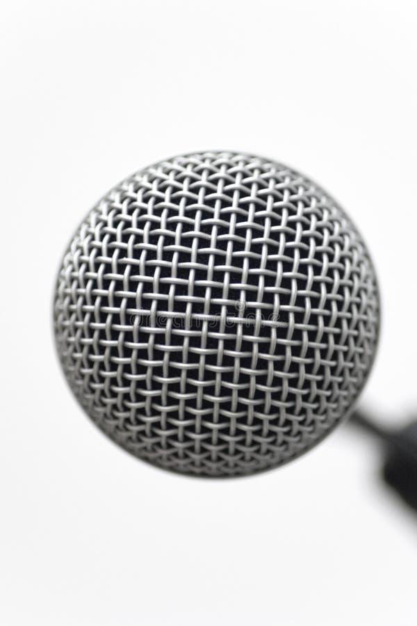 特写镜头顶头mic 免版税库存图片