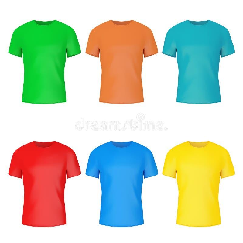 特写镜头颜色空白与空的空间的T恤杉大模型你的De 向量例证