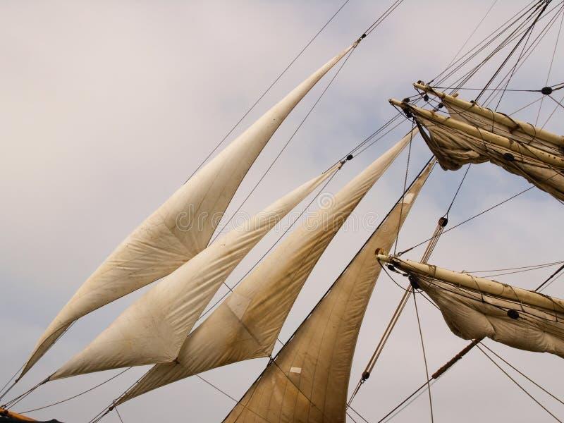 特写镜头风帆 免版税库存照片