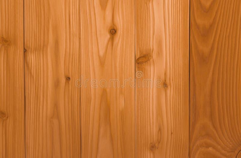 特写镜头黄色木纹理背景 与独特的样式的木纹理 空的棕色木墙壁 木板 橙色木木材 库存图片