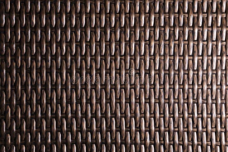 特写镜头黑褐色背景是柳条家具的元素由聚合物纤维做成 综合性豪华基体 库存图片