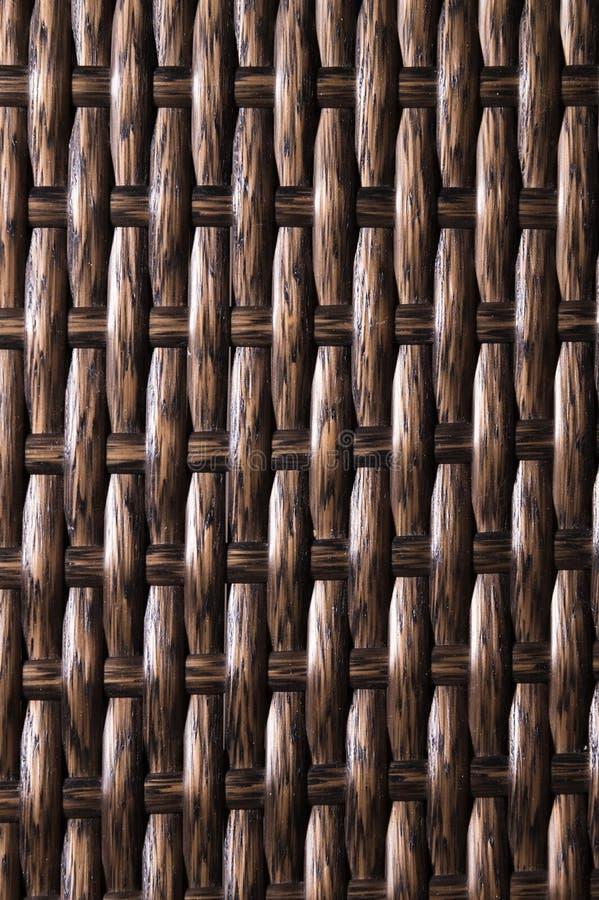 特写镜头黑褐色背景是柳条家具的元素由聚合物纤维做成 综合性豪华基体 图库摄影