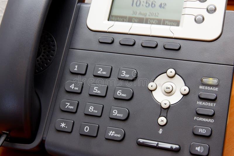 特写镜头VoIP电话 免版税库存照片