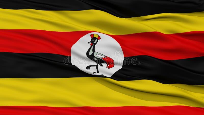 特写镜头乌干达旗子 皇族释放例证