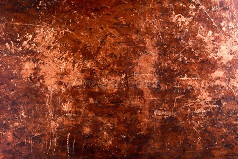 特写镜头古色古香的老leahter书套背景 southwell家庭用大型圣经1773 免版税库存照片