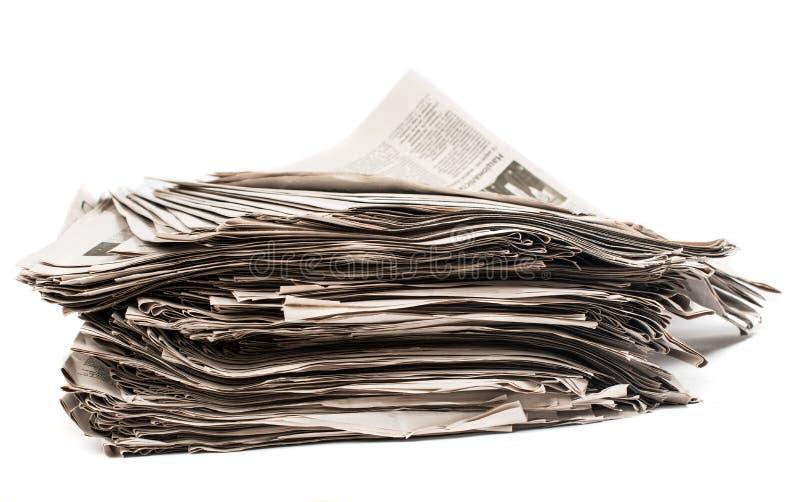 特写镜头堆报纸 图库摄影