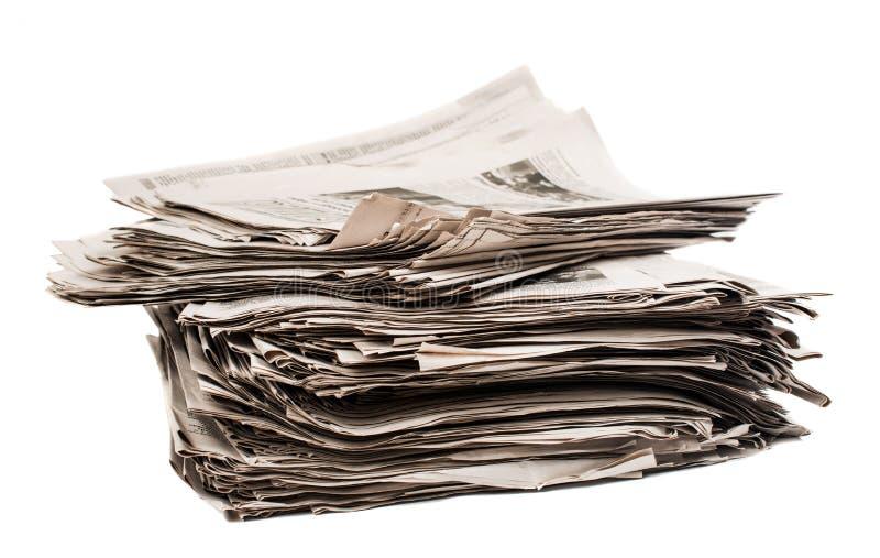 特写镜头堆报纸 免版税图库摄影