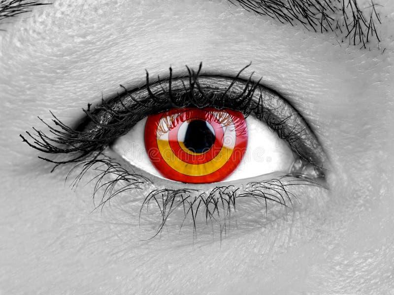 特写镜头女性眼睛目标目标虹膜 库存图片