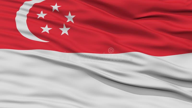 特写镜头新加坡市旗子,新加坡 皇族释放例证