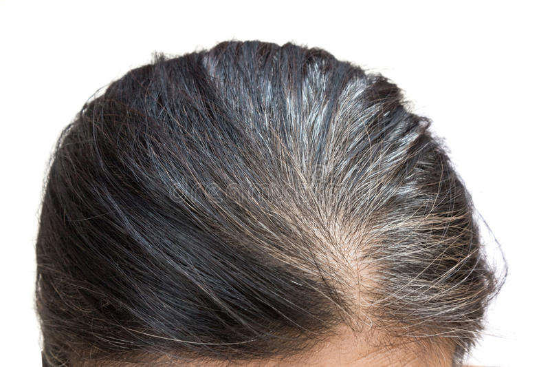 特写镜头灰色头发老妇人 免版税库存照片