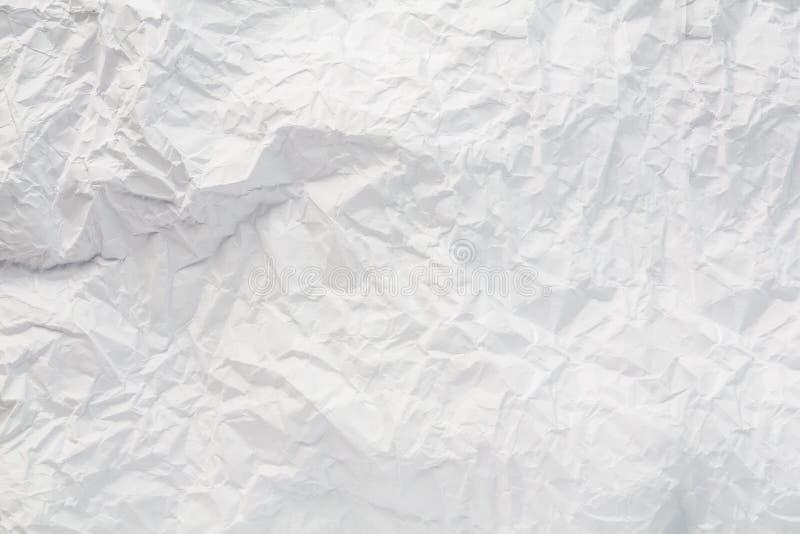 特写镜头白色普通纸纹理 免版税库存图片