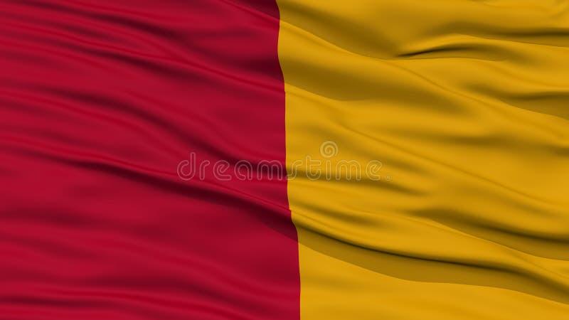 特写镜头罗马市旗子,意大利 皇族释放例证