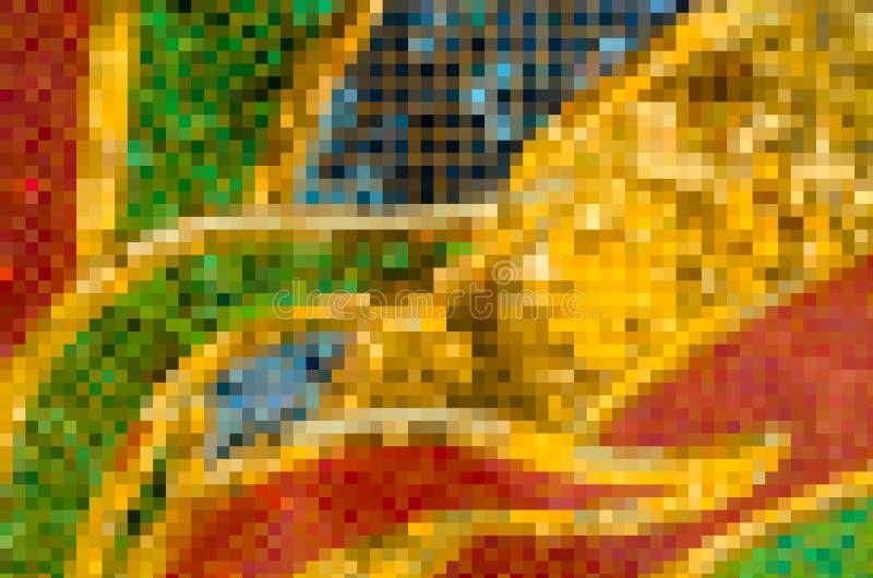 特写镜头美丽五颜六色挤压抽象背景 免版税库存图片