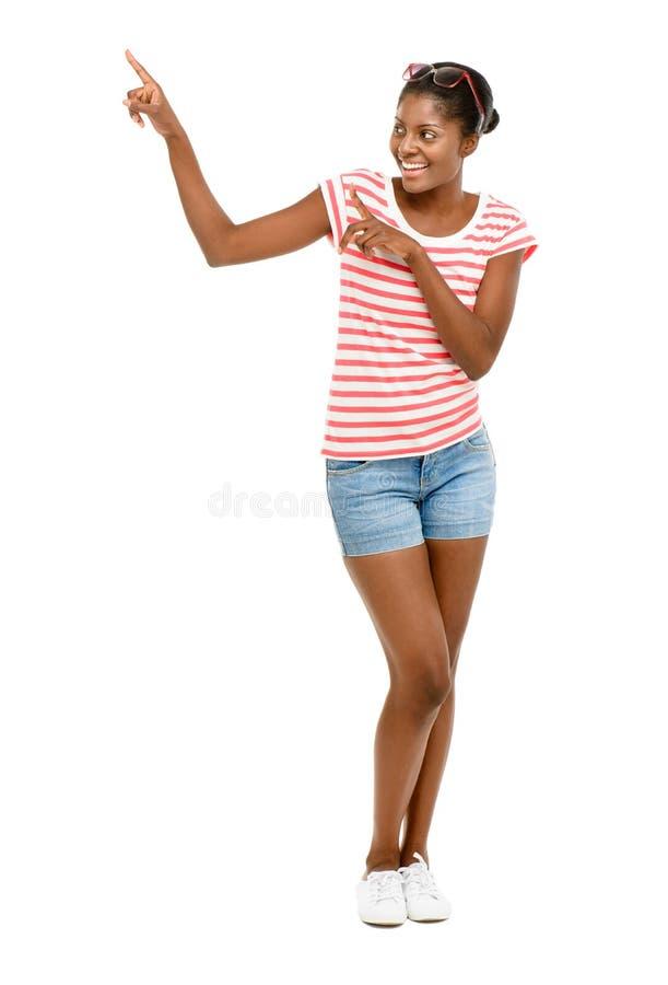 特写镜头美好的非裔美国人的时装模特儿白色backgroun 免版税库存照片