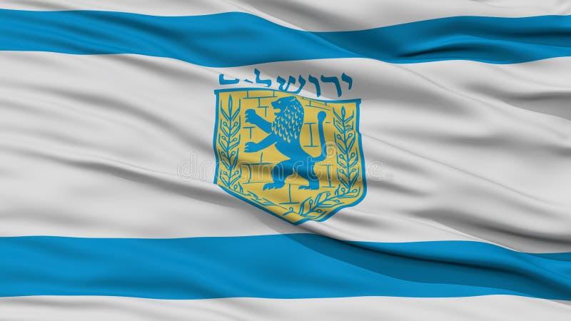 特写镜头耶路撒冷市旗子,以色列 皇族释放例证
